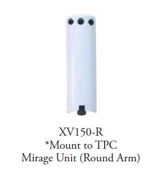 TPC Dental XV150-R Xray viewer bracket (round cut-out) - mount to Mirage unit head (Round Arm)