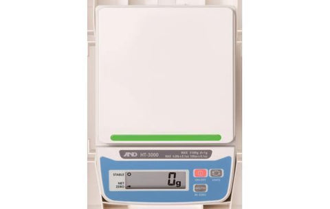 A&D Weighing HT-3000 3100g, 1g, Compact Scale - 2 Year Warranty - Ramo Trading