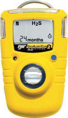 BW Technologies GA24XT-H510 Gas Alert Clip Extreme 2 Year Single Gas Detector Hydrogen Sulfide (H2S) Low Alarm Version- 5 ppm / High - 10 ppm