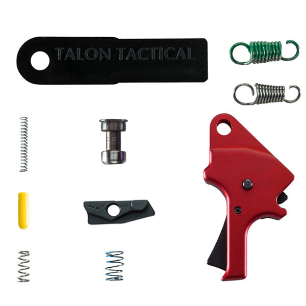 M&P Forward Set Sear & Flat Faced Trigger Kit - Aluminum (FSS) - Red