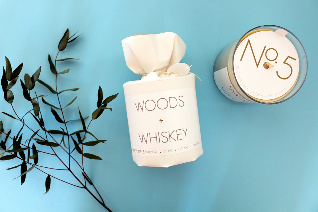 Rica Woods & Whiskey Soy Candle