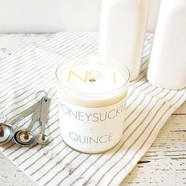 Honeysuckle & Quince Soy Candle