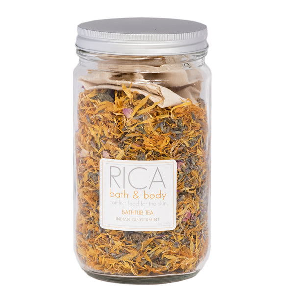Indian Ginger Mint Bathtub Tea - Rica Bath & Body