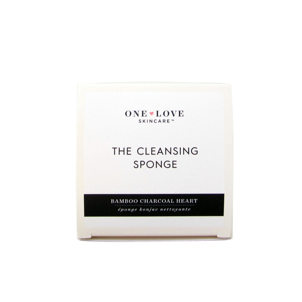 Natural Cleansing Sponge Charcoal One Love Organics
