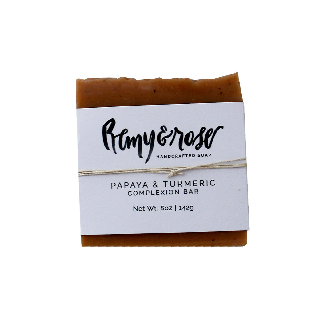 Papaya Turmeric Bar Soap - Remy and Rose