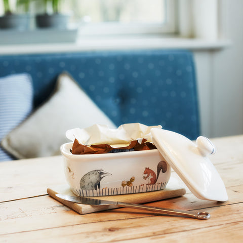 woodland butter dish £28