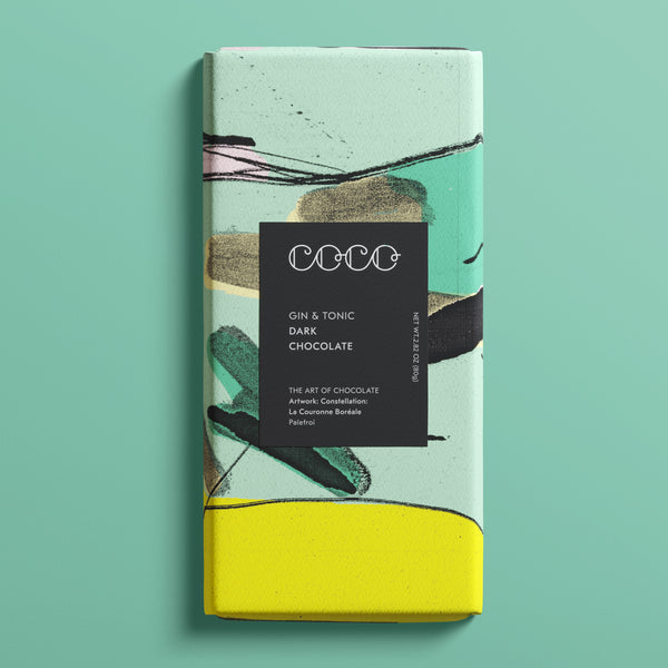 Gin & Tonic Dark Chocolate by Coco