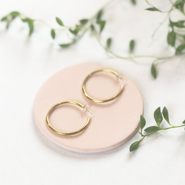 Hoop Brass Earrings by Clare Elizabeth Kilgour