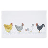 Country Chickens Cotton Tea Towel