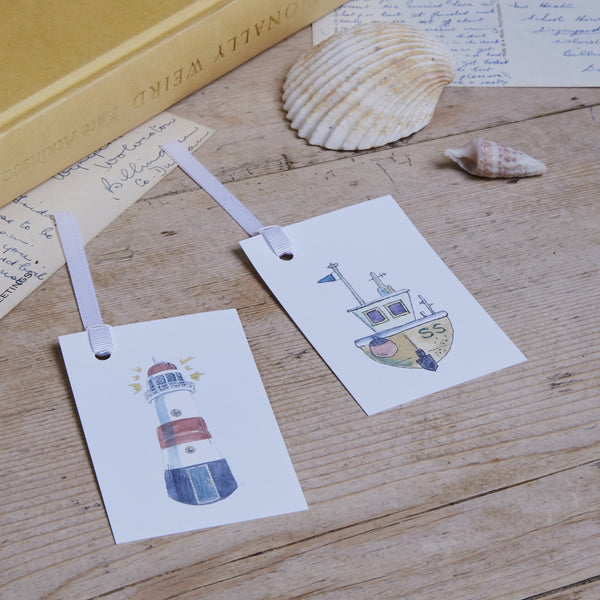 Cornish Coast Gift Tag Pair