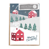 Pack of 8 House Christmas Cards by Jade Fisher