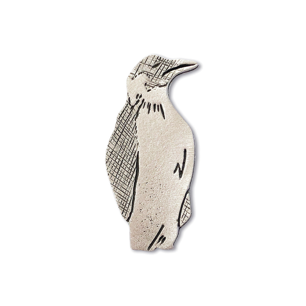 Cast Pewter Penguin Brooch