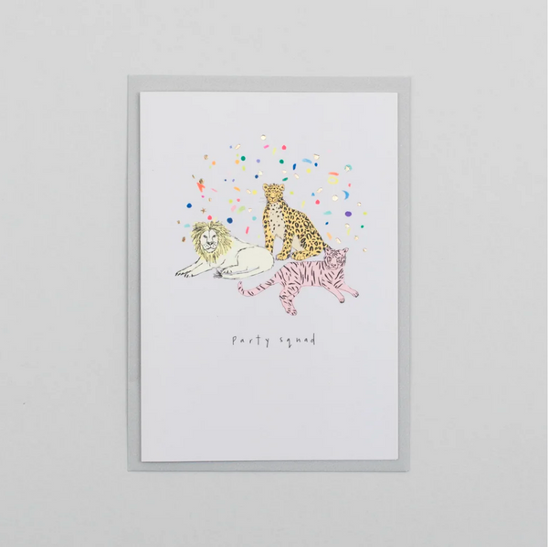 Party Squad Animal card by Katie Housley