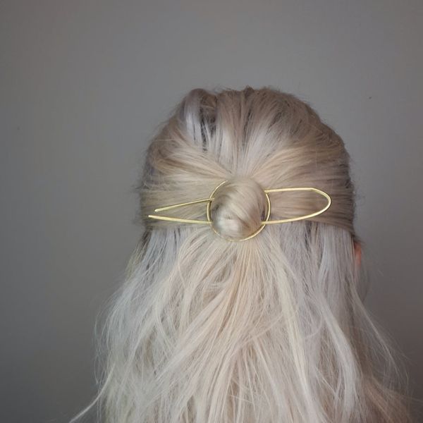 Brass Hair Pin by Clare Elizabeth Kilgour
