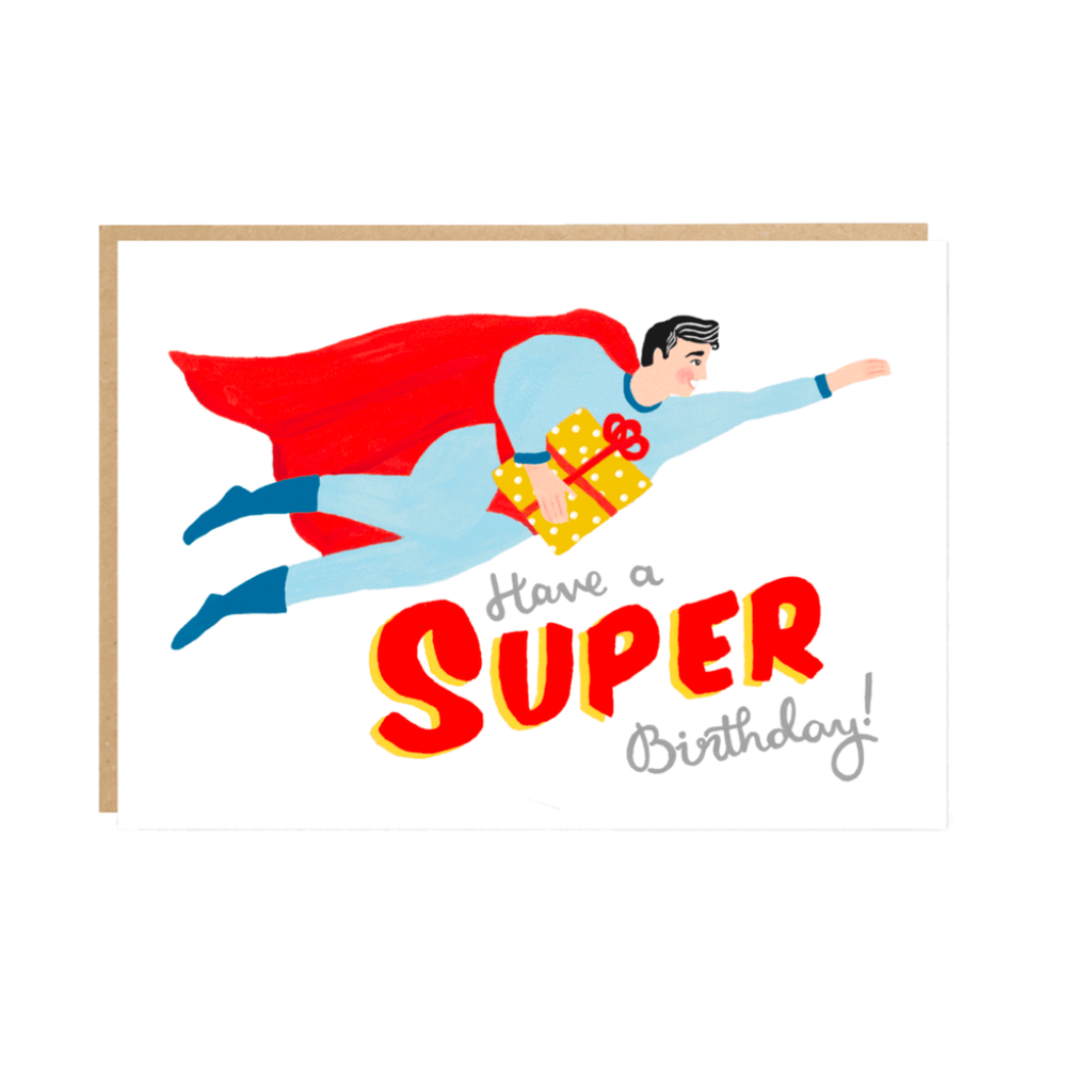 Super Hero Birthday Card by Jade Fisher
