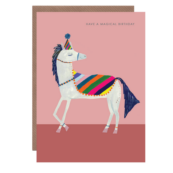 Horse Happy Birthday Card by Hutch Cassidy
