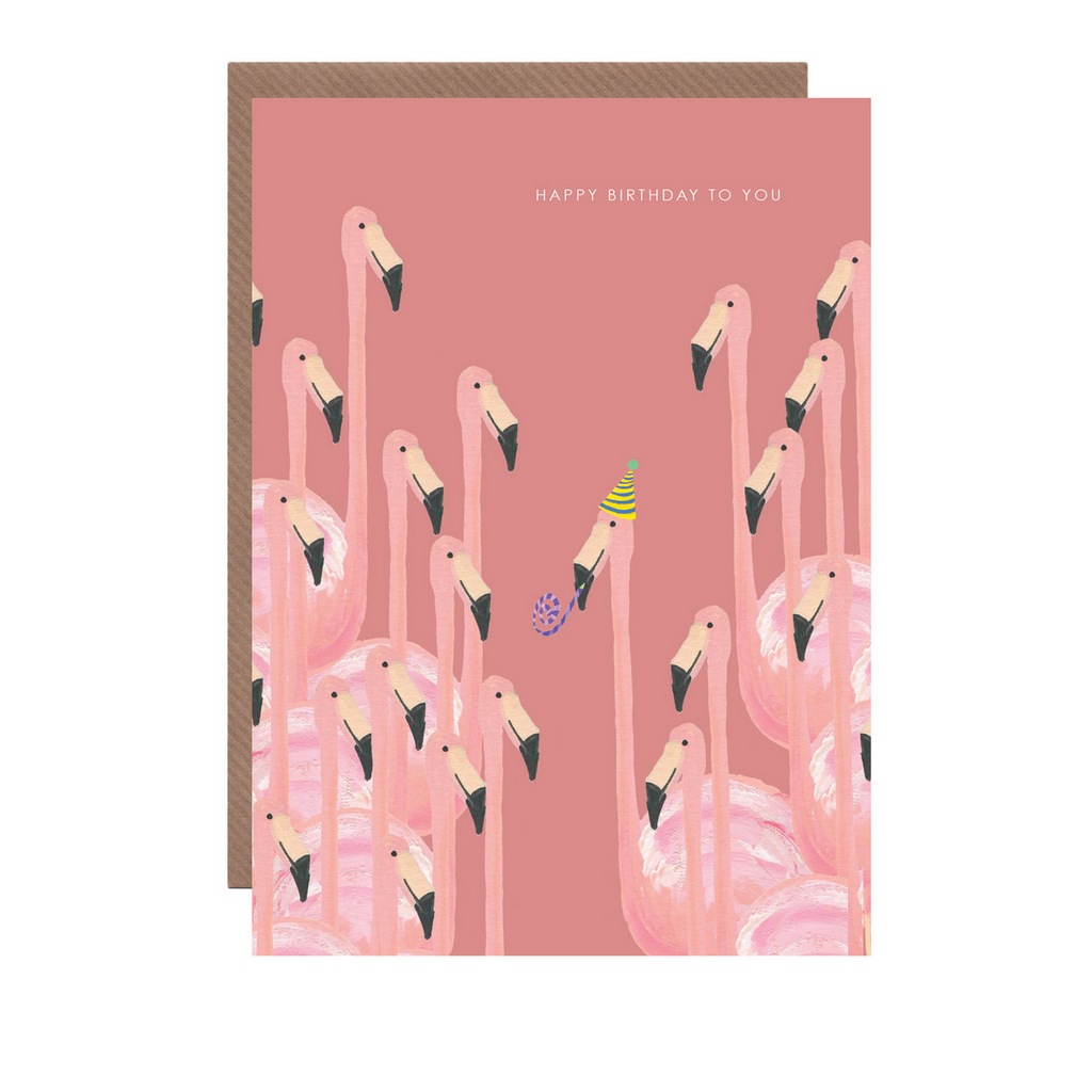 Flamingo Birthday Card by Hutch Cassidy