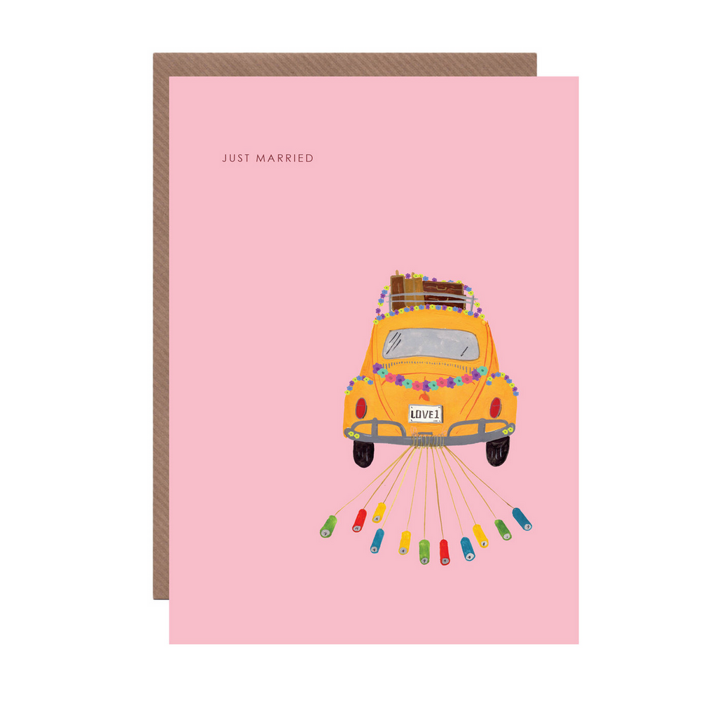 Just Married Card by Hutch Cassidy