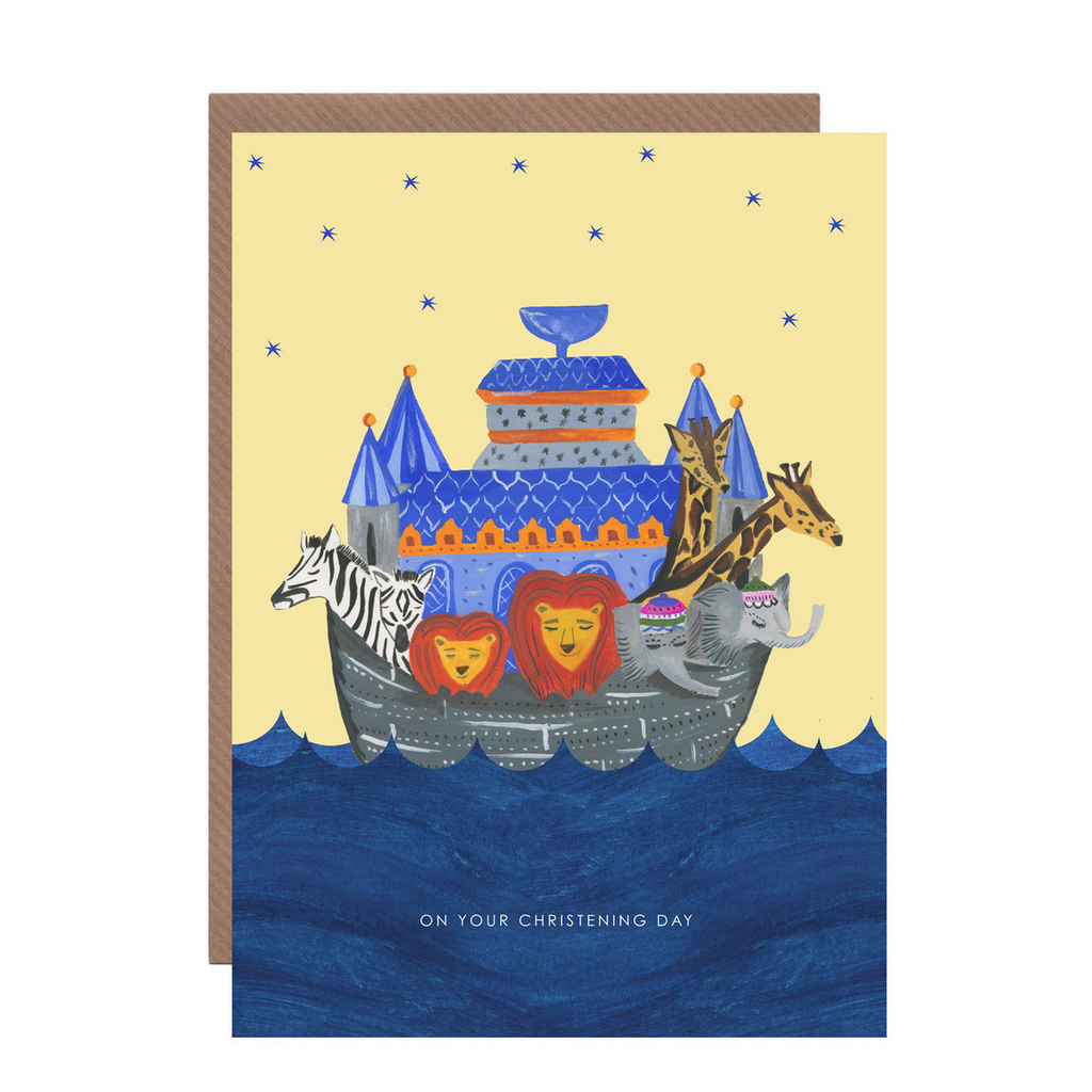 Noah's Ark Christening Card by Hutch Cassidy