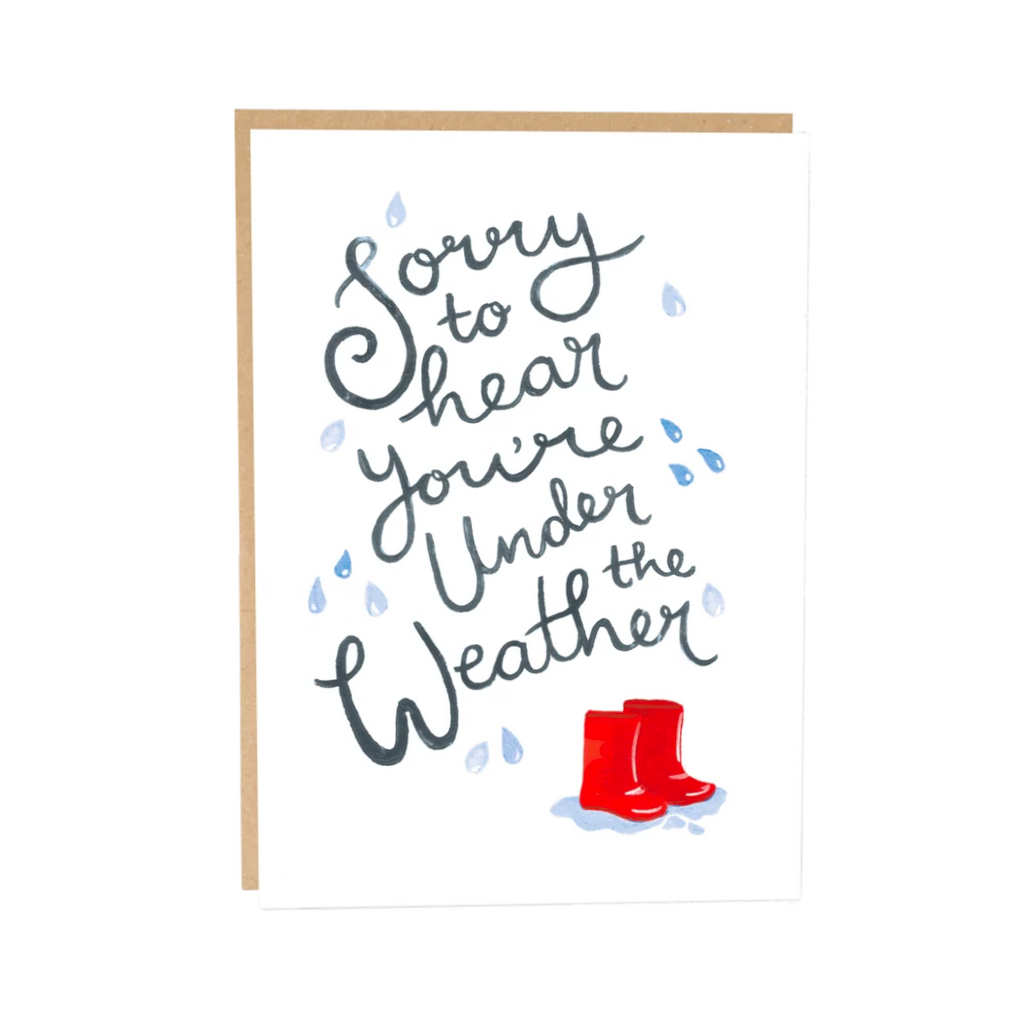 Under the Weather Greeting Card by Jade Fisher