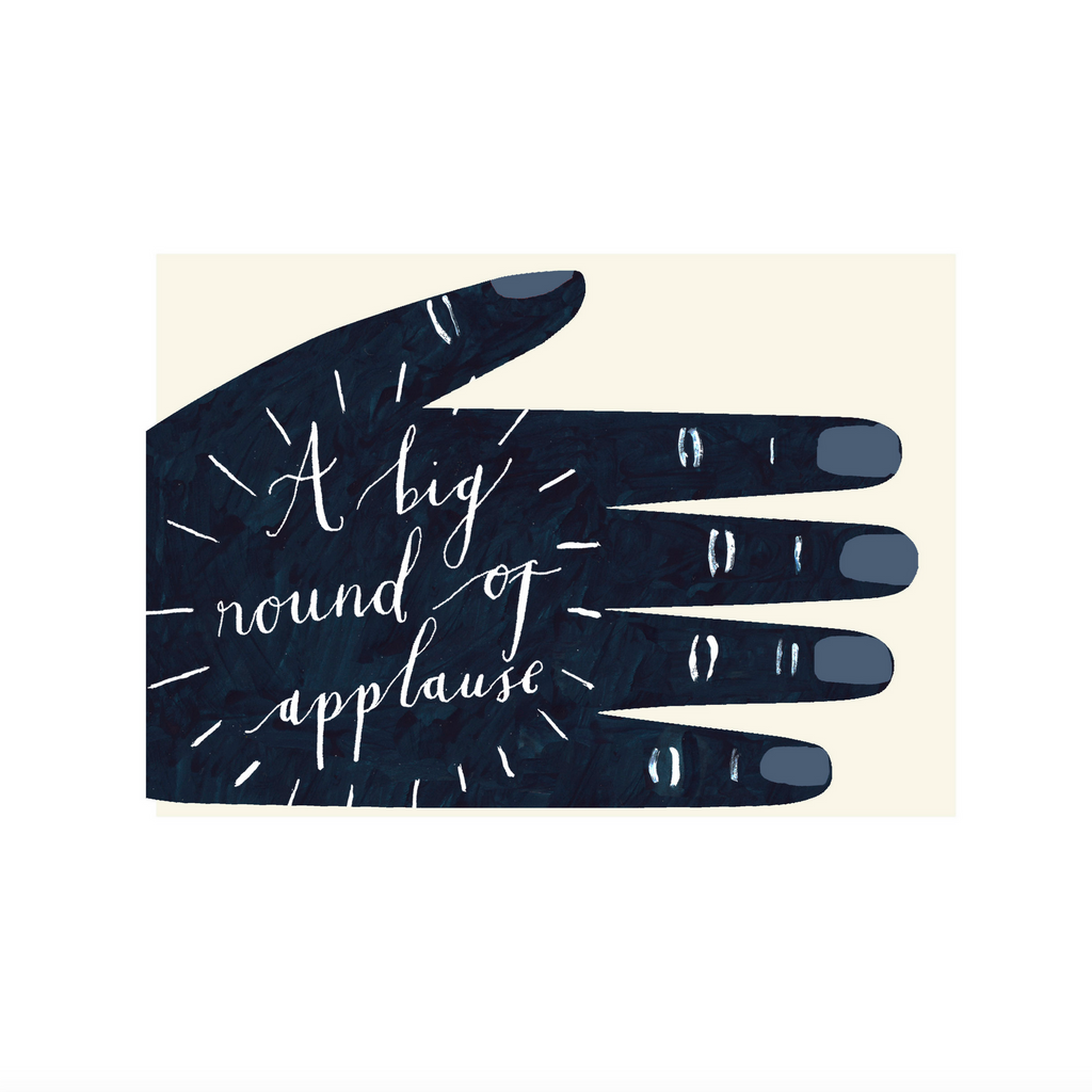 Round of Applause card by Hadley Paper Goods