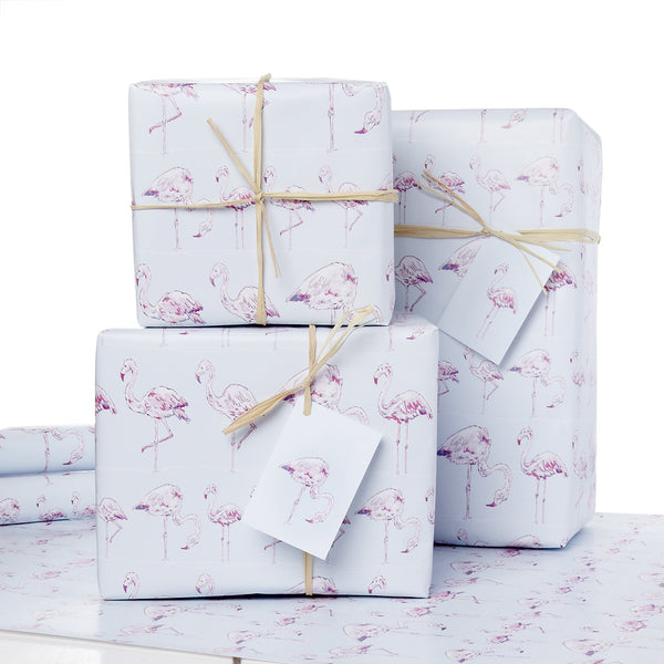 Fluting Flamingo Wrapping Paper