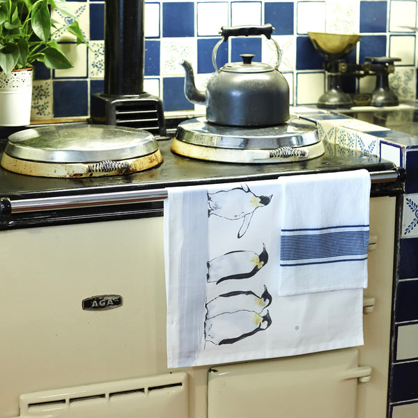 Emperor Penguin Tea Towel