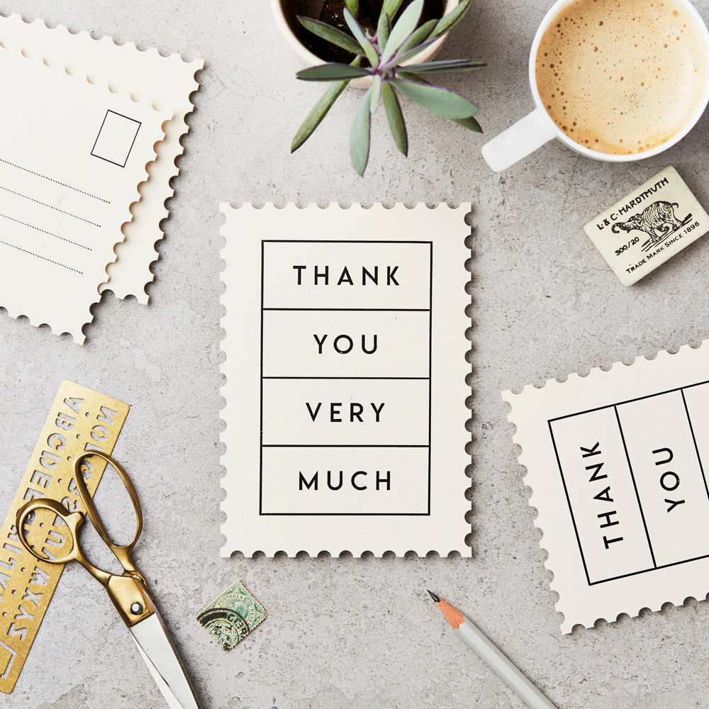 Thank You Very Much Postcard by Katie Leamon