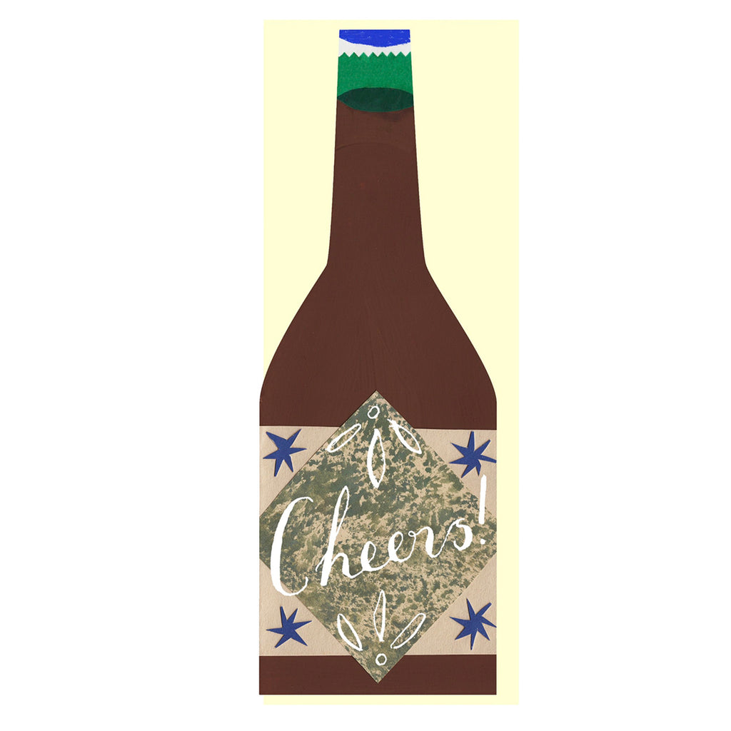 Cheers beer bottle card by Hadley Paper Goods