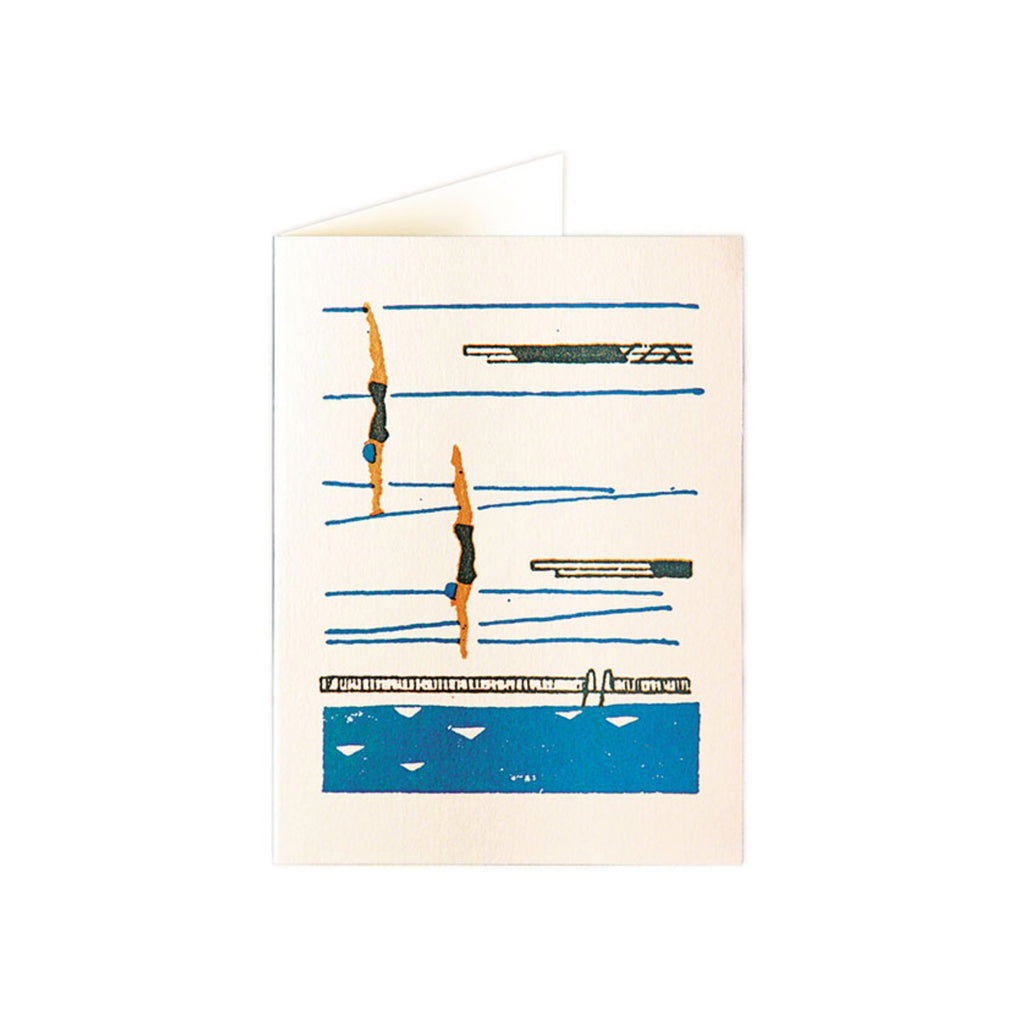 Pack of five Diver Notecards by Archivist