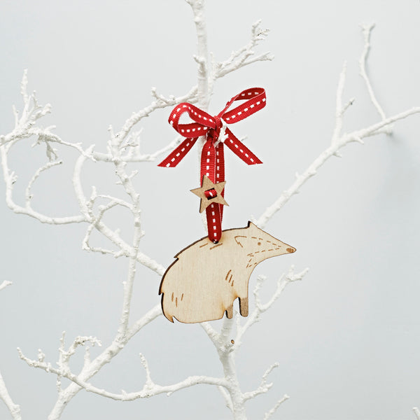 Badger Christmas Decoration