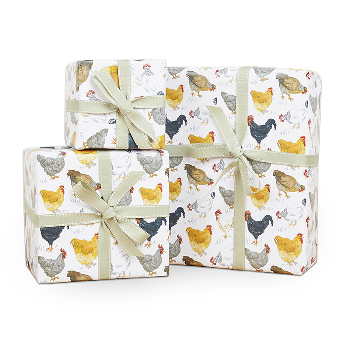 Country Chickens Wrapping Paper