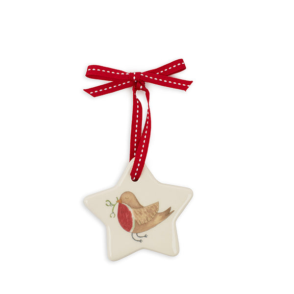 Large Star Robin Decoration