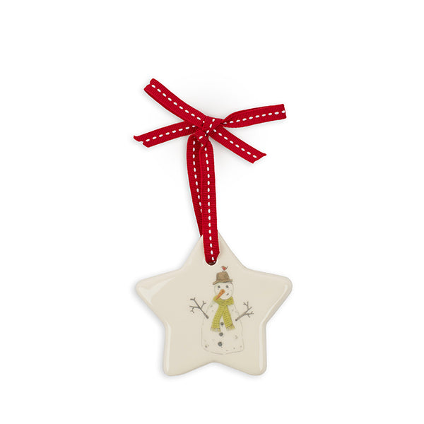 Large Star Snowman Decoration