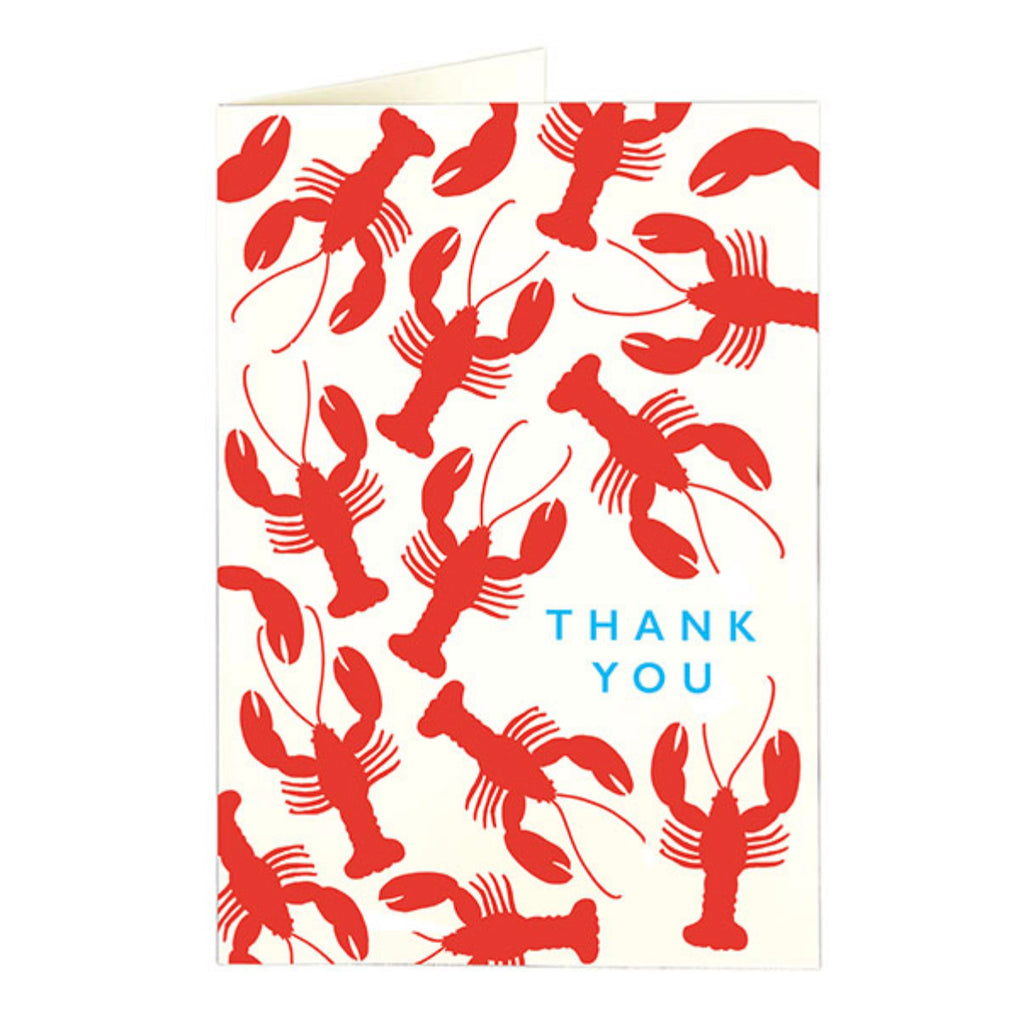 Lobster Thank You Card by Archivist