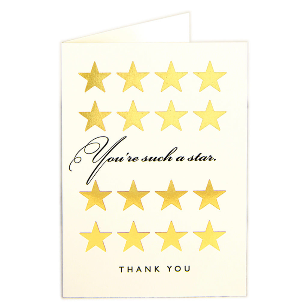 Star Thank You Card by Archivist