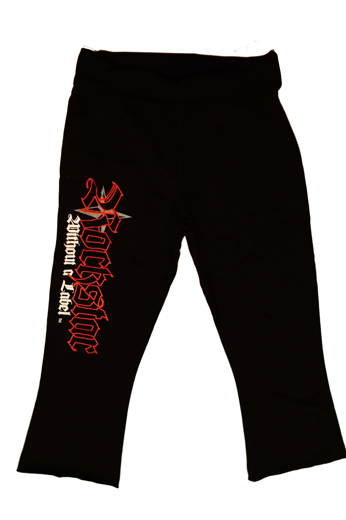 Yoga/Fitness Capri Pants/Ankle Length flair leg with Red Rockstar Logo