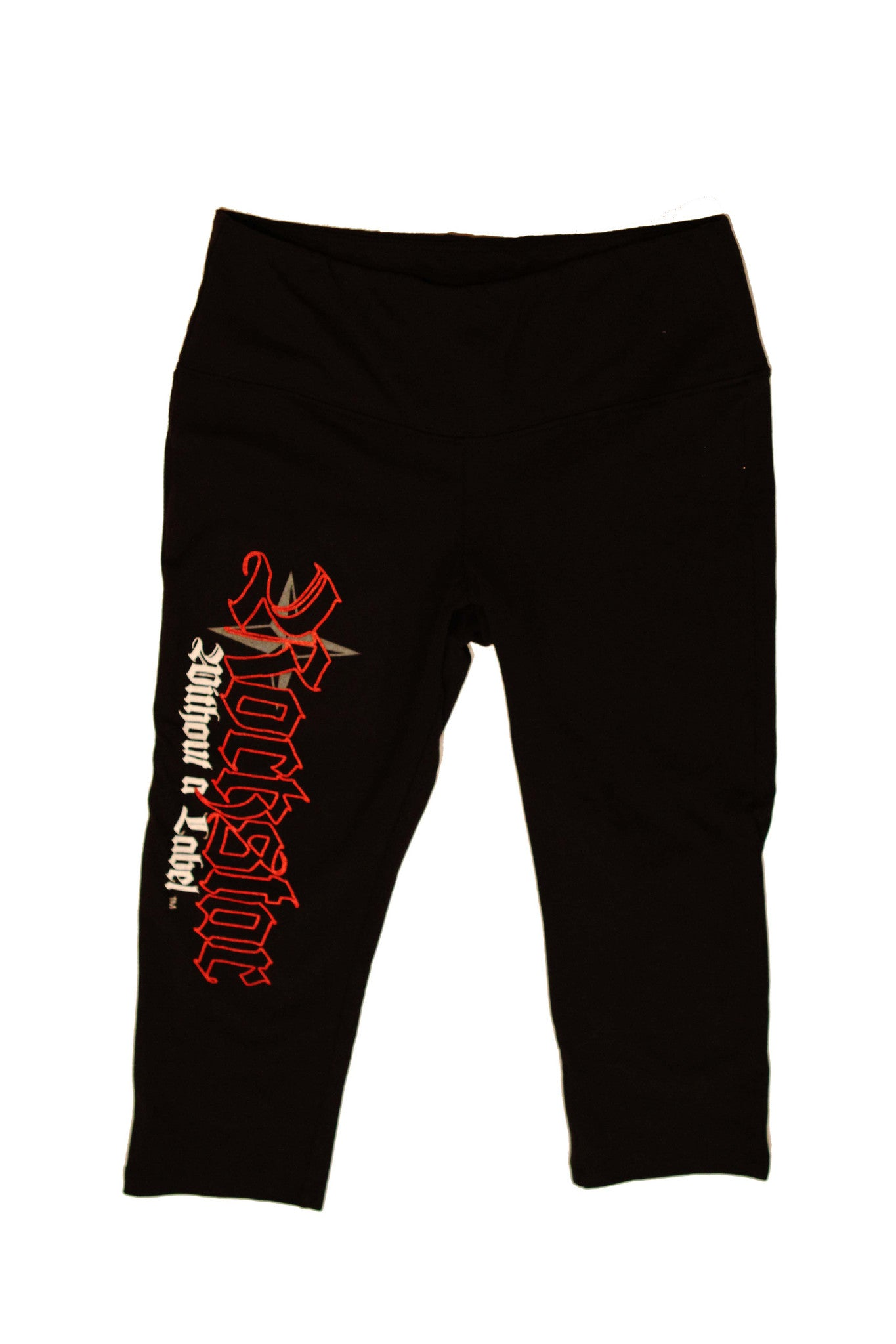 Yoga/Fitness Capri Pant Knee/Length with Red Rockstar Logo