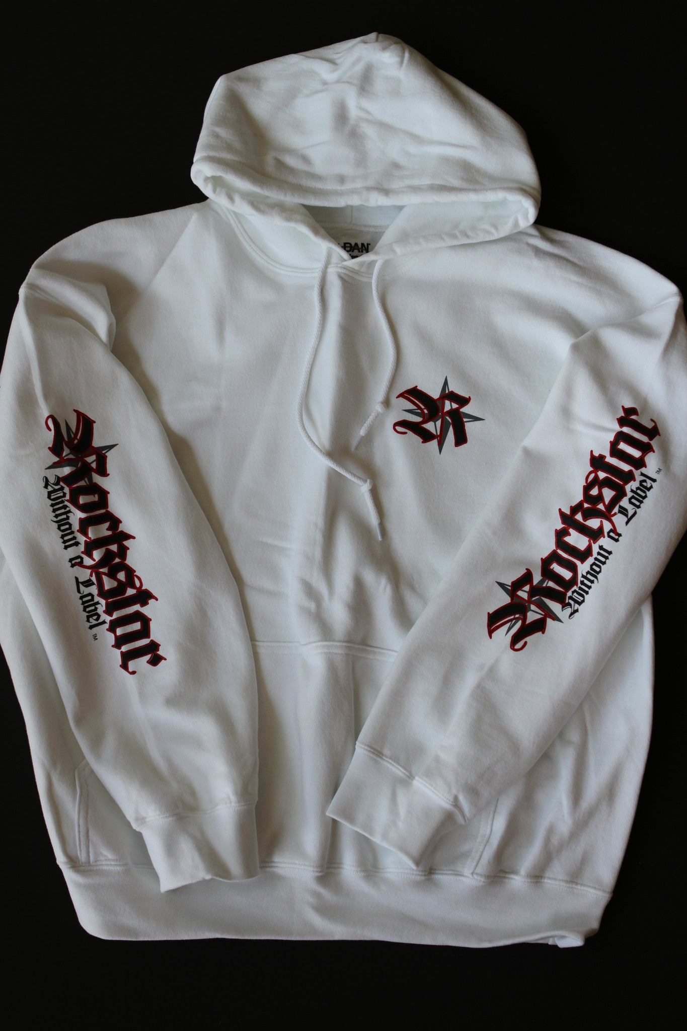 Hoodie/White with Red Logo