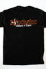 T-Shirt Black with Orange Outline Logo