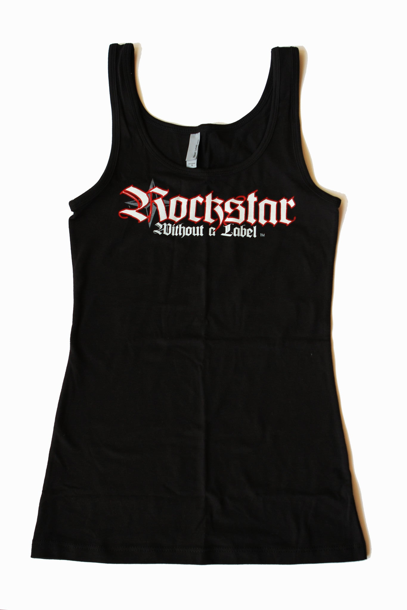 Tank Top/Womens Black with Red&White Logo