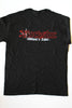 T-Shirt Black with Red Outline Logo
