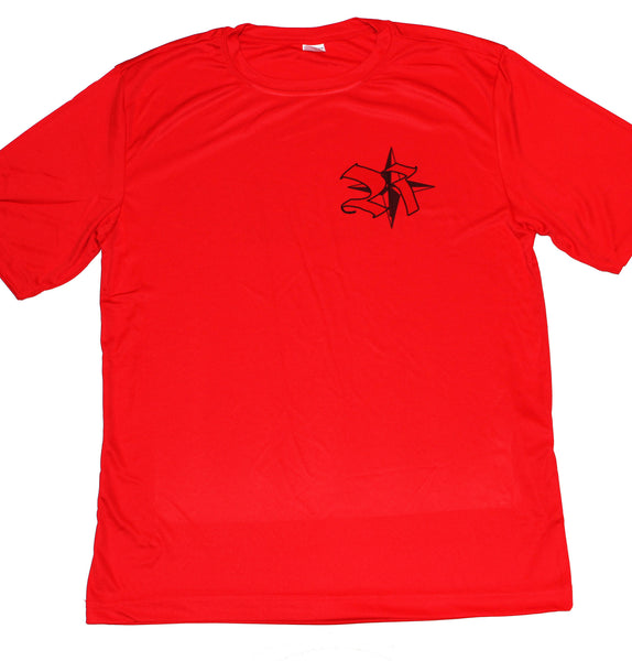 Fitness Men's Shirt in Red 100%poly Light and Cool in Red with Rockstar WOL on back