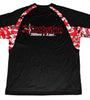 Fitness Men's Shirt in Black with Red Camo 100%poly Light and Cool with Rockstar WOL Logo on Back