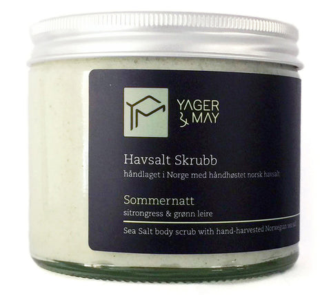 Sommernatt - Lemongrass & Green Clay Sea Salt Scrub