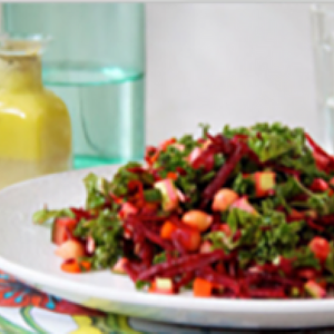 Alkaline Diet Recipe: Raw Chopped Salad with Lemon Pepper Dressing