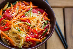 "Alkaline Diet Recipe: Asian Sesame ""Noodles"" and Dressing Recipe"