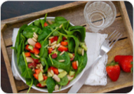 Spinach & Strawberry Salad With Basil Dressing Recipe