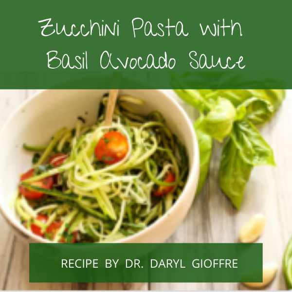 Zucchini Pasta with Basil Avocado Sauce Recipe by Dr. Daryl