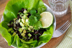 Black Bean and Avocado Lettuce Cups